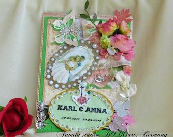 Paper Anniversary. 1st Anniversary. Paper Wedding card. 1st Anniversary card. Wedding card. Wedding anniversary. Congratulations card.