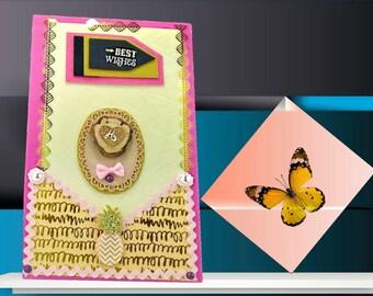 Kids birthday box. Graduation photo box. Back to school box. Kids memory box.Kids stationery box.