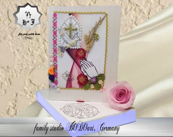 Christening cards. Holy confirmation. Baptism gift. Godmother cards. |Godfather cards. First confirmation. Confirmation gift.Christian card.