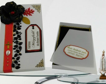 Sympathy favor box.  Condolence gift box for sending love and support at a loss of family member, Wife, Sibling. Personalized. Multilingual.