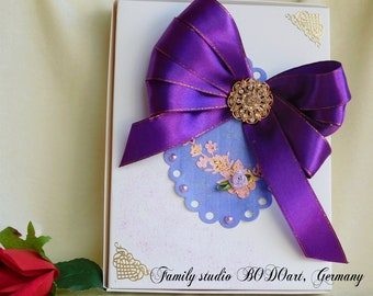 Paper photo box. Groom gift. Grandma box. Photo keepsake box. Gift box for him. Paper anniversary. Groom memory box.Gift photo box.