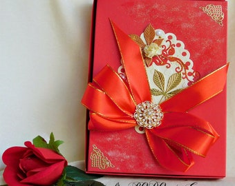 Gift box for her. 40th birthday gift. 50th birthday gift. Bride gift box. Gift box for mom. Bride and groom gift. Photo keepsake box.