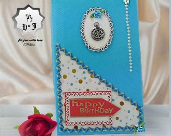Stationery gift box. Birthday card box. Gift wrapping box. Gift packaging.  Mothers gift box. Sister gift box. Paper photo box.