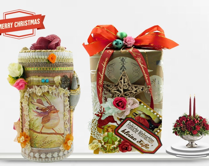 """Featured listing image: Toy box. Miraculous gift box """"Enchanted Forest""""  with luxury wrapping and stunning, personalized Christmas/Birthday Tag."""