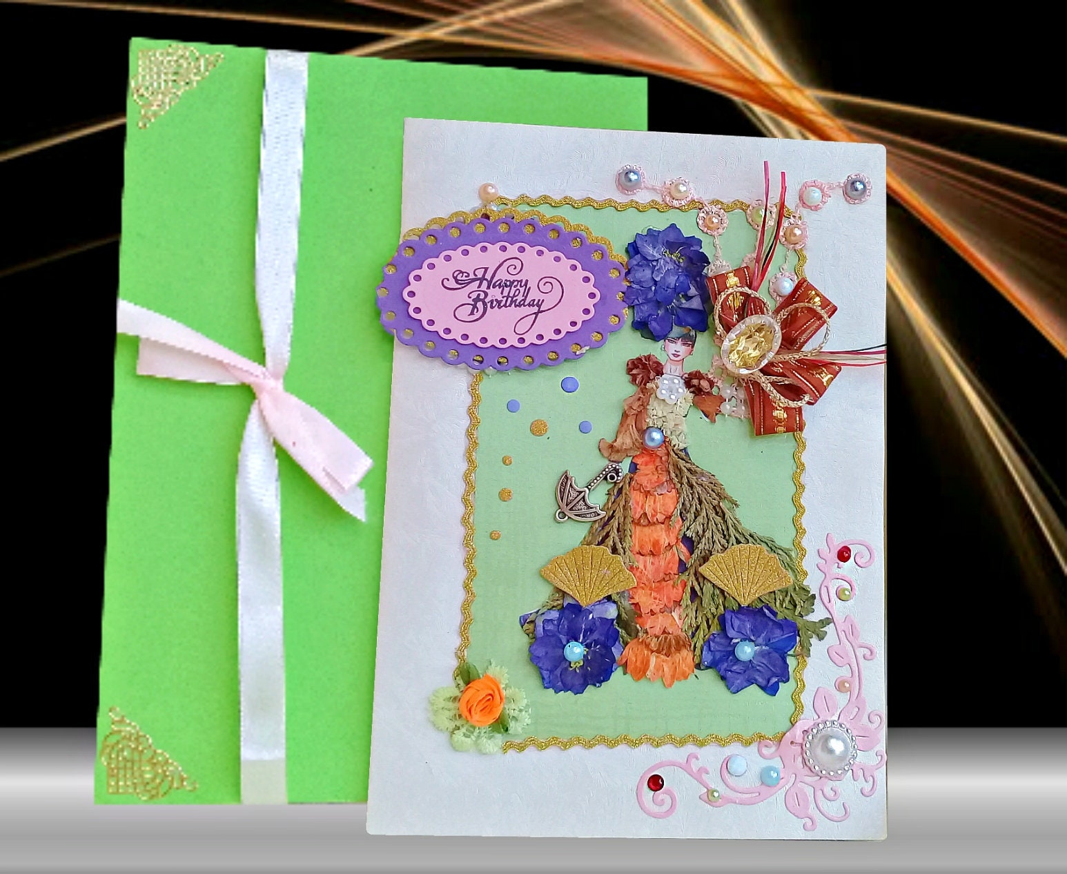 Flower Girl Cards Girlfriend Birthday 21 Card For