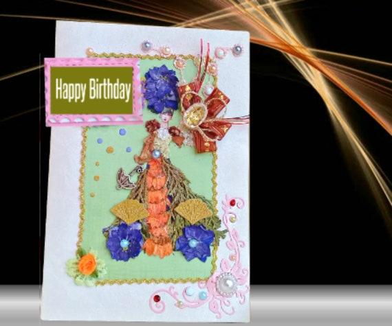 Cartes De Fille De Fleur Anniversaire De Petite Amie 21 Etsy