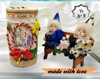"Storage box for toys ""Snow White and the 7 dwarfs"". Kids room box. Toy chest. Kids memory box. Keepsake box. Birthday gift box. Toy box."