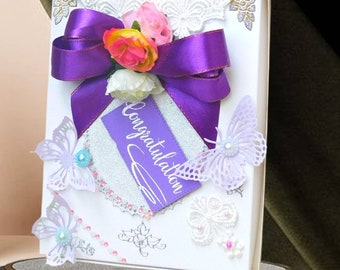 Graduation gift. Engagement gift box. Graduation card box. Wedding gift box. Gift box for her. Custom gifts. Gift box for couple.        .