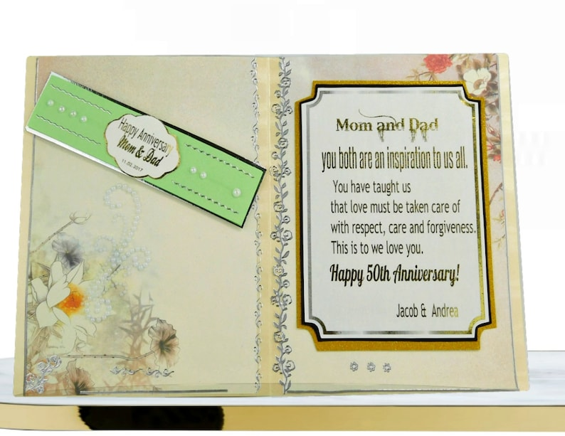 Pearl Anniversary Card For Couple Parents Friends Heart Etsy