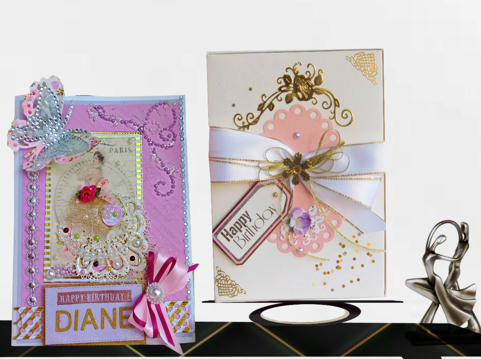 Birthday Card Personalized And Custom Color Greeting For Woman
