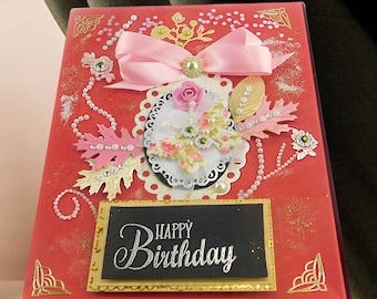 Happy 21 birthday. Stationery gift box. Birthday gifts. Photo box. Wax stamp box. Gift for daughter. Birthday box. Birthday keepsake.