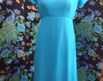 1940's Turquoise blue, matching dress and hat new old stock excellent condition