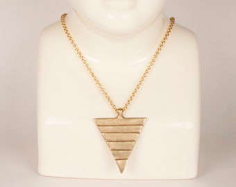 Cast Bronze Triangle Pyramid Amulet