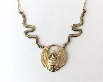 Scarab Adjustable Necklace Crown