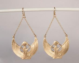 Isis Egyptian Goddess Earrings