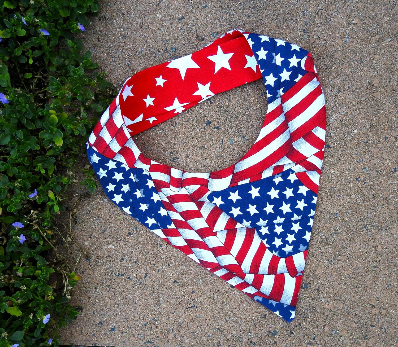 American Hound Reversible Dog Bandana USA Flag Dog