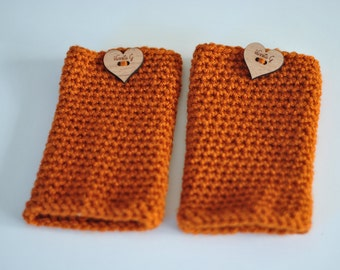 The Vintage Ava Leg Warmers in Rust