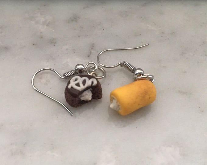 Featured listing image: Twinkie and Hostess Cupcake Earrings