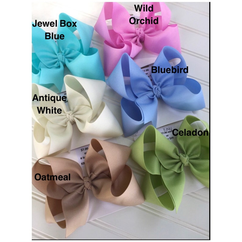 Solid Azalea Boutique Hair Bow 4 MADE IN USA