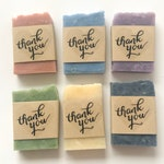 Thank You Soap Favors - Wedding Soap Favors - Bridal Shower Favors - Baby Shower Favors - Customized Soap - Wedding favors for guests
