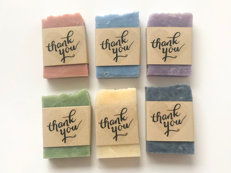 Thank You Soap Favors  Wedding Soap Favors  Bridal Shower image 0