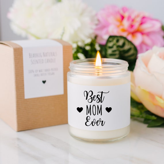 Scented Candle Winter Candles Holiday Candle Gift Idea For Mom, Personalized Candle Best Mom Ever Candle Best Mom Ever Candle Gift