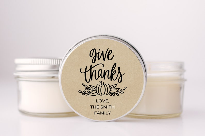 Give Thanks Thanksgiving Favor Set of 6 Thanksgiving Dinner image 0