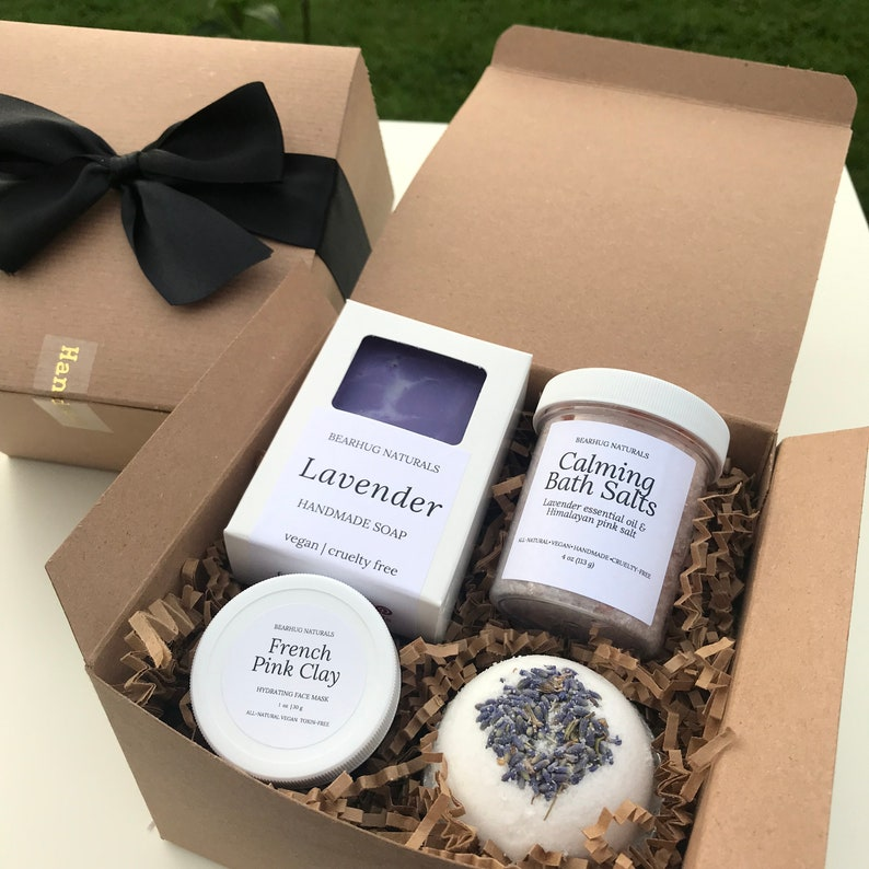 Lavender Spa Box Set for Mom Teacher Girlfriend BFF Thank image 0