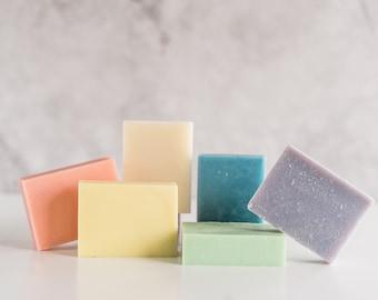 Natural Soap Bars,  Handmade soap, Mothers day gift, gift for mom, lavender soap, stocking stuffer,  Peppermint Soap, Eucalyptus Soap