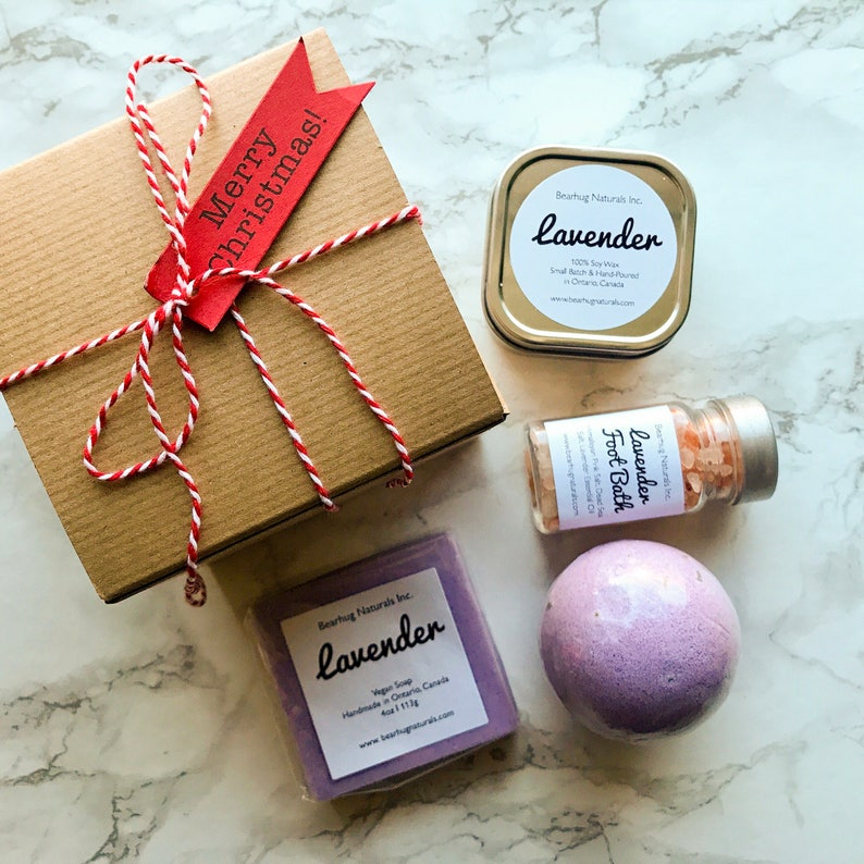 Christmas Gift Box Lavender Spa Box Mother S Day Gift Box Bridesmaids Gift Birthday Gift For Mom Lavender Gift Lavender Bath Bomb