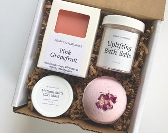 Pink Grapefruit Spa Box Set, Mother's Day gift,  Teacher, Girlfriend, BFF, Mom Gift, Holiday All Natural Pampering Kit