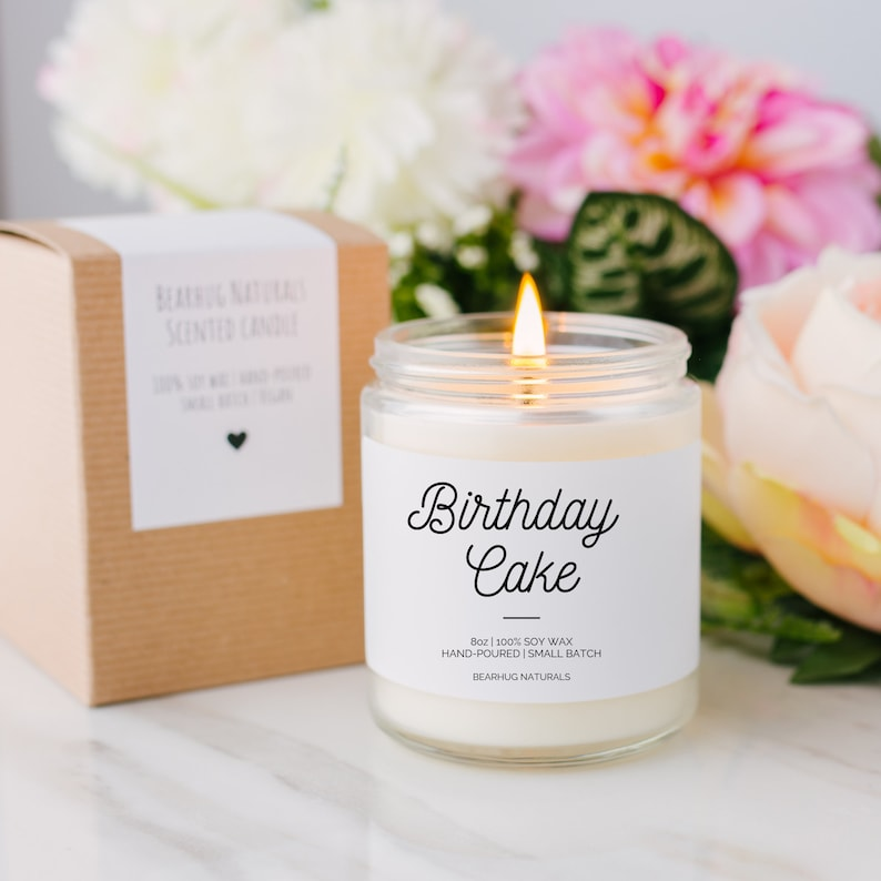 Birthday Cake Candle Cake Scented Candle Cake Candle image 0