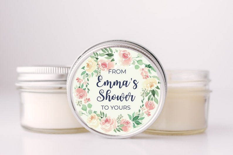 Bridal Shower Favors  Bridal Shower Soy Candles   Baby image 0