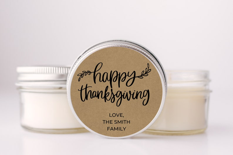 Thanksgiving Candle Favors Set of 6 Thanksgiving Dinner image 0