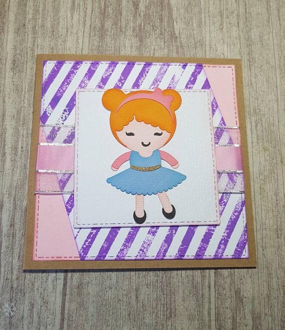 Cute Handmade Birthday Card For Girls Etsy