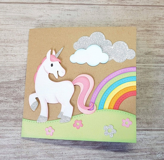 Unicorn Card Cute Birthday Blank
