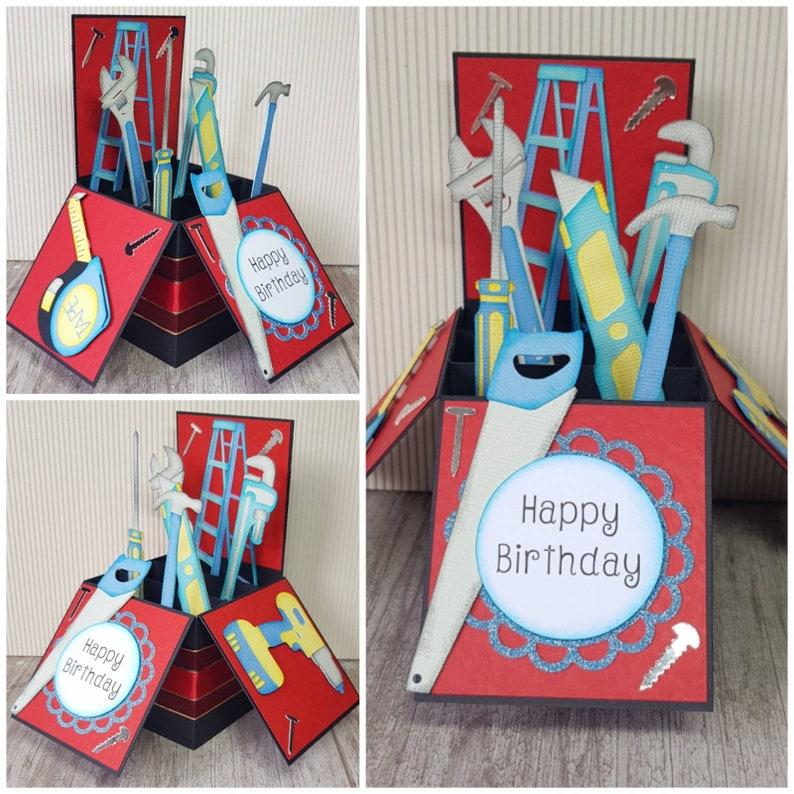 Tool Box Card Tools Unique Birthday Pop Up