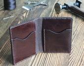 Bifold Wallet for Man, Custom Leather Wallet Man, Brown Leather Wallet, Full Grain Leather Wallet, Front Pocket Wallet Mens, Slim wallet