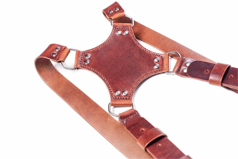 Double camera straps Personalize dual camera strap DSLR camera strap leather Photographer harness Leather multi camera harness leather strap
