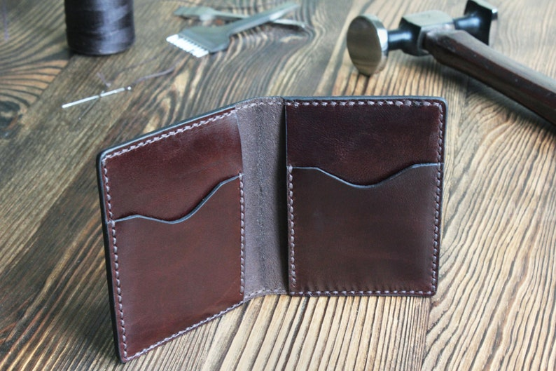 2e1b88d484616 Bifold Wallet for Man Custom Leather Wallet Man Brown