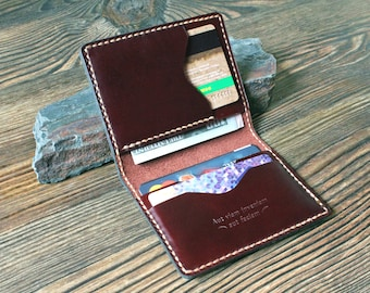 Card holder Leather card wallet Mens gift Front pocket wallet Dad gift Slim leather wallet personalized Credit card wallet minimalist wallet