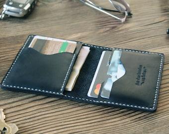 Boyfriend gift Leather card holder Credit card wallet for him Gift for husband Card case Minimalist wallet Black wallet Thin wallet mens