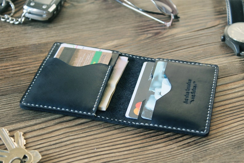 ea8502bcc647a Boyfriend gift Leather card holder Credit card wallet for him