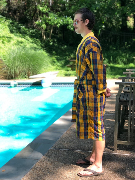 Vintage Men's Swimsuit and Matching Robe/Cabana Ou