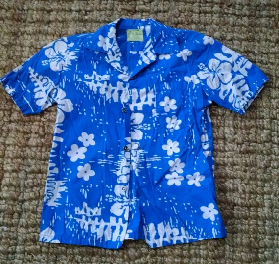 Kids Vintage 1960s Ui-Maikai Hawaiian Shirt Floral