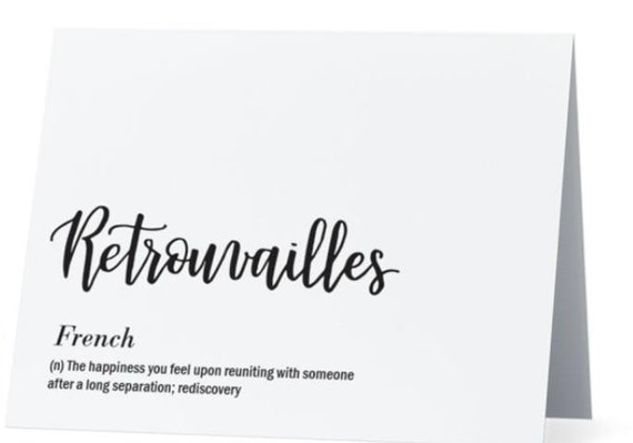 Retrouvailles french greeting card inside it was great to etsy image 0 m4hsunfo