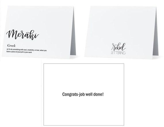 Meraki greek greeting card inside congratsjob well done etsy 50 m4hsunfo