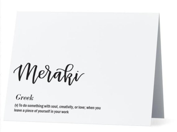 Meraki Greek Greeting Card Inside Congratsjob Well Done Etsy