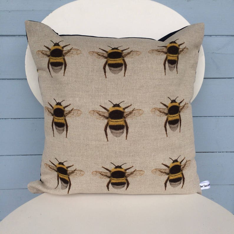 Bumble Bee Cushion Bumble bee Pillow Bee/Nature gift for mum image 0