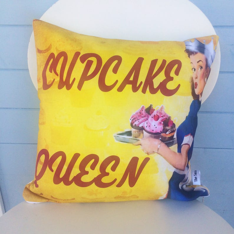 Cupcake Queen cushion Cupcake Pillow Cake Lover Gift mom image 0
